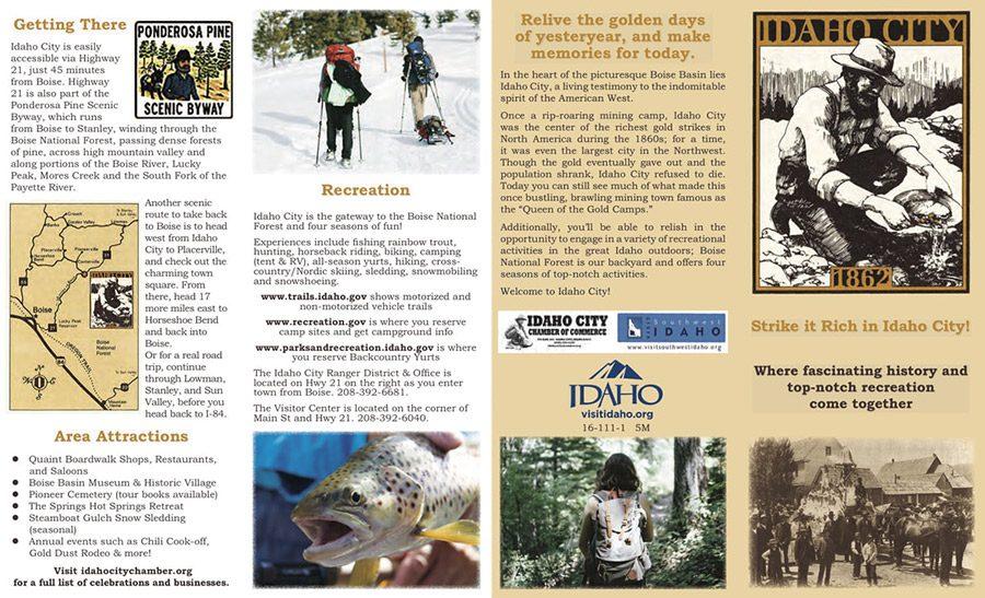 Idaho City Brochure page 1